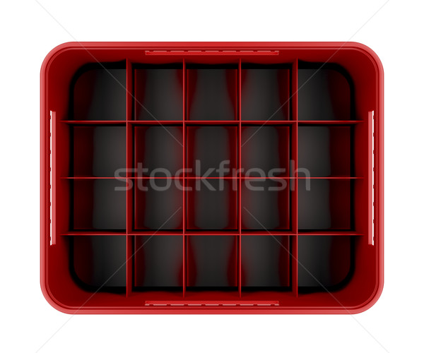 Piros sör láda izolált fehér felső Stock fotó © magraphics