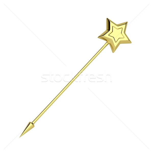 Golden magic wand Stock photo © magraphics