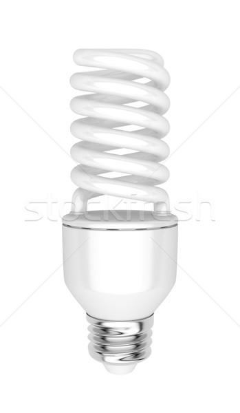Fluorescencyjny żarówka energii oszczędność odizolowany biały Zdjęcia stock © magraphics