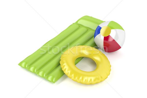 Strandbal matras zwemmen ring zwembad vlot Stockfoto © magraphics