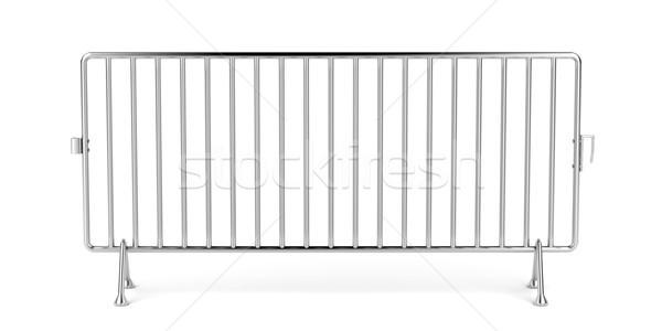 携帯 フェンス 白 鋼 金属 セキュリティ ストックフォト © magraphics