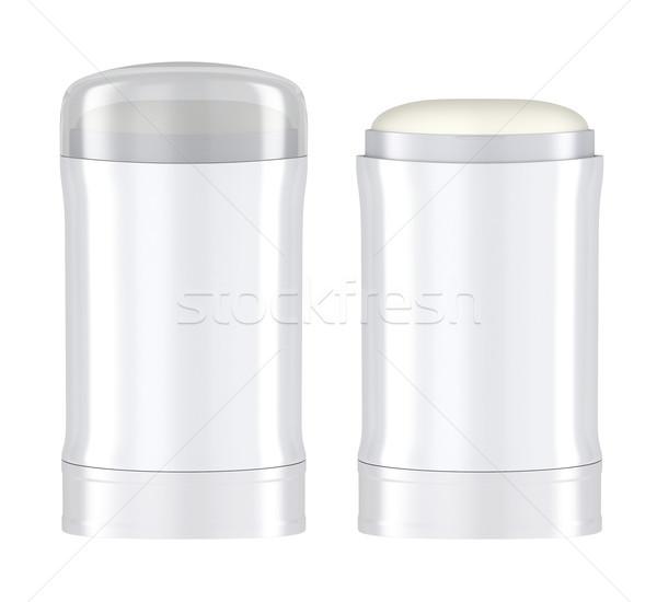 Antiperspirant sticks on white background Stock photo © magraphics