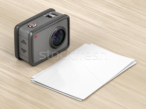 アクション カメラ 写真 デジタルカメラ 紙 ストックフォト © magraphics