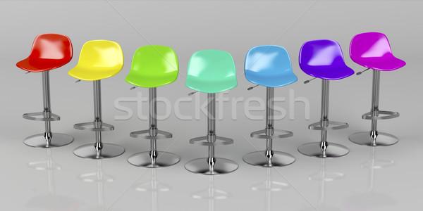 Colorato bar unico lucido grigio fronte Foto d'archivio © magraphics