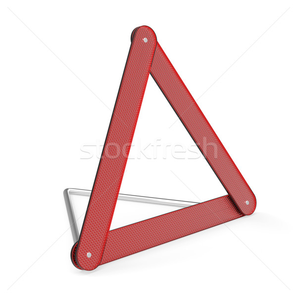 Danger triangle urgence avertissement blanche signe Photo stock © magraphics