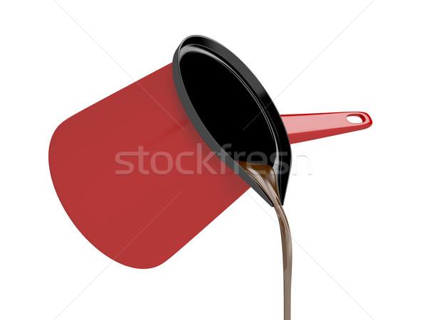 черный кофе красный кофе банка металл Сток-фото © magraphics