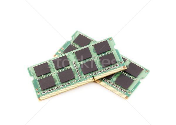 память ноутбука изолированный белый компьютер Сток-фото © magraphics