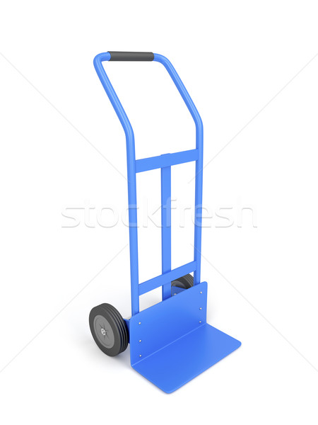 Blue hand truck Stock photo © magraphics
