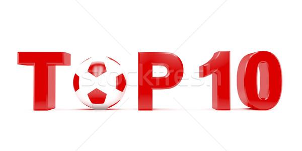 先頭 10 文字 サッカー サッカーボール ストックフォト © magraphics