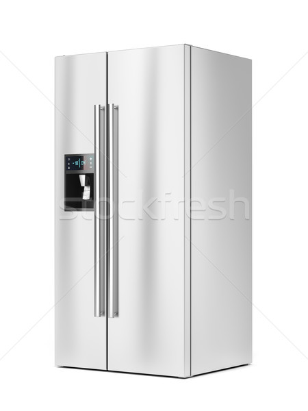 Side-by-side fridge on white background Stock photo © magraphics