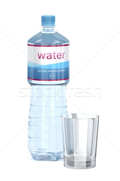 фляга пусто стекла Кубок белый бутылку Сток-фото © magraphics