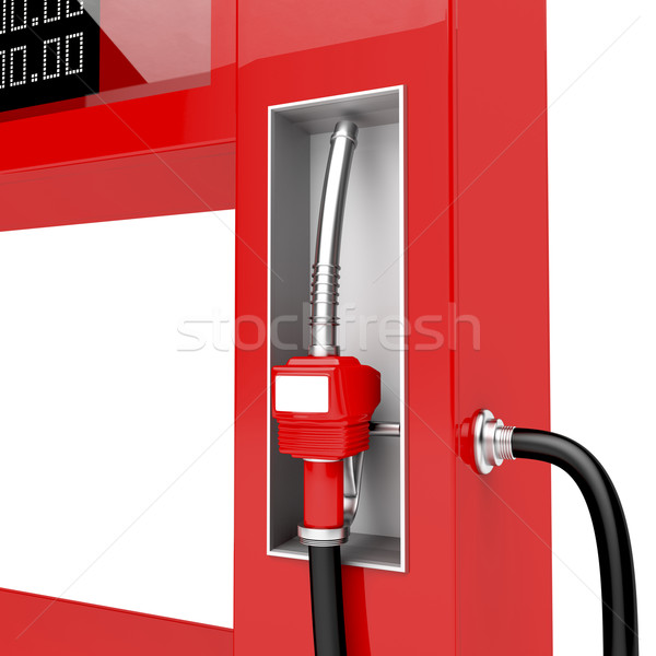 Rosso rendering 3d industria gas Foto d'archivio © magraphics