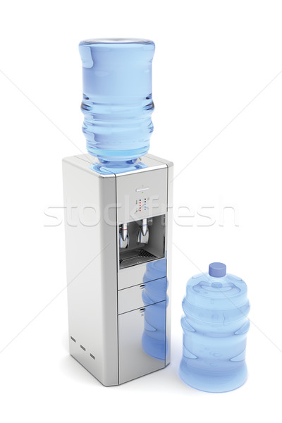 Silver water dispenser Stock photo © magraphics