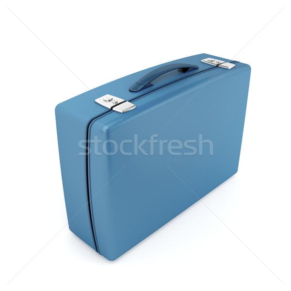 スーツケース 青 白 ビジネス ブリーフケース 荷物 ストックフォト © magraphics