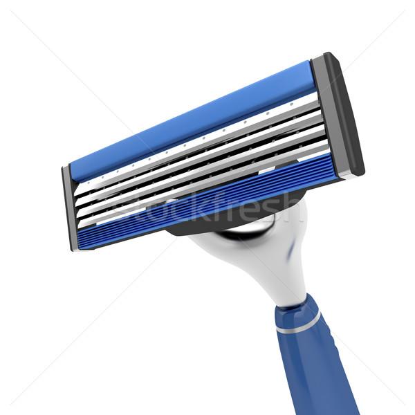 Veiligheid scheermes gezicht huid staal Stockfoto © magraphics