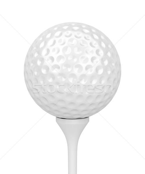 Golflabda izolált fehér sport labda játék Stock fotó © magraphics