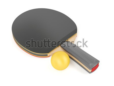 Table tennis racket and ball Stock photo © magraphics