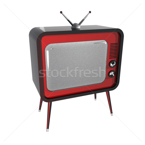 Retro tv 3d ruido Screen supervisar Foto stock © magraphics