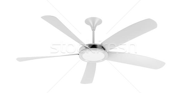 白 天井 ファン 孤立した 風 クール ストックフォト © magraphics