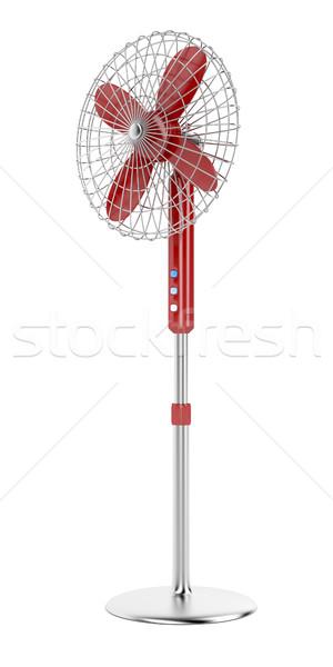 Elektrische fan witte cool geïsoleerd lang Stockfoto © magraphics