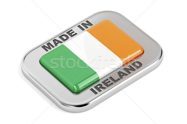 Irlanda brillante placa blanco signo botón Foto stock © magraphics