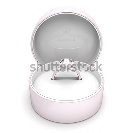 Diamond ring with box Stock photo © magraphics