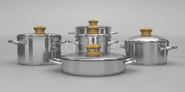Acier inoxydable cuisine cuisson outil Cook Photo stock © magraphics