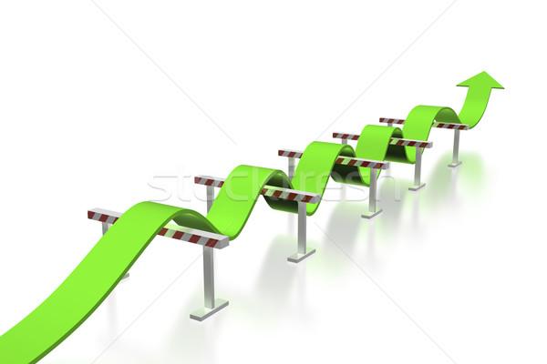Ugrik akadályok siker üzlet jogi mozgás Stock fotó © magraphics