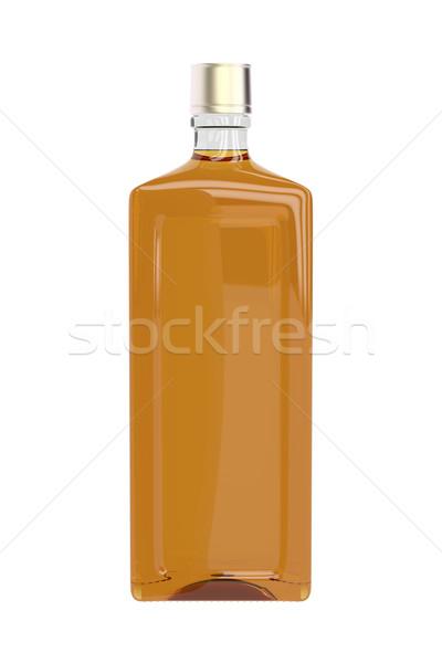 Brandy botella aislado blanco beber irlandés Foto stock © magraphics
