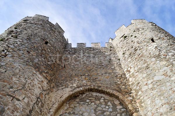 Twierdza ściany rock kamień Europie ruiny Zdjęcia stock © magraphics
