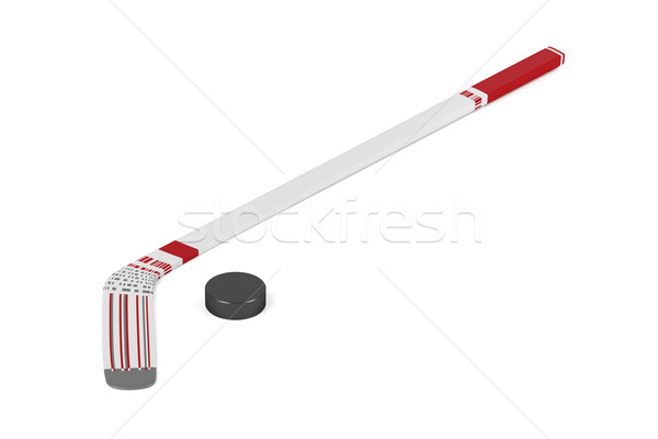 Ice hockey stick and puck Stock photo © magraphics