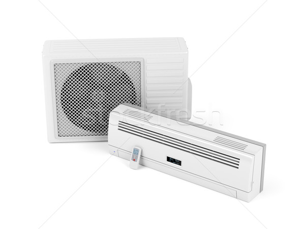 Ar condicionado branco tecnologia legal frio eletrônico Foto stock © magraphics