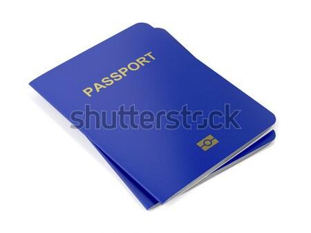 Blanco dos viaje país documento pasaporte Foto stock © magraphics
