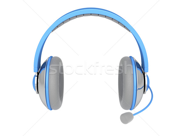 Stereo headphone with mic Stock photo © magraphics