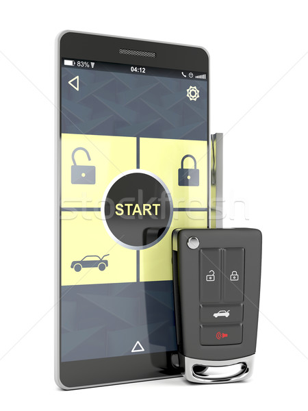 Car key and smartphone Stock photo © magraphics