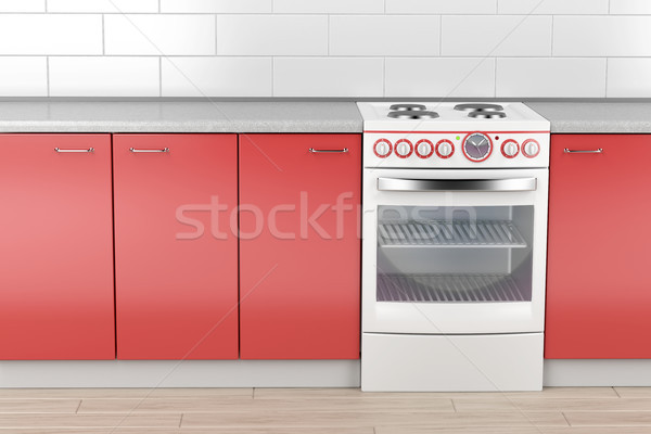 Modern electric stove Stock photo © magraphics