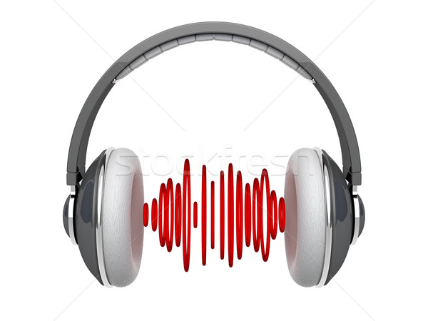 Headphones with sound waves Stock photo © magraphics