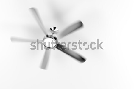 Plafond fan chambre mur vent cool Photo stock © magraphics