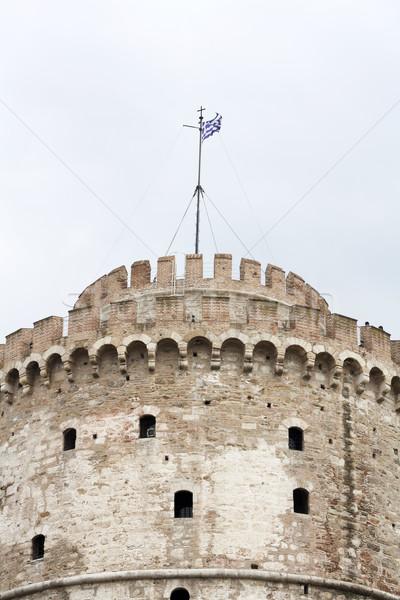 белый башни Салоники Греция путешествия замок Сток-фото © magraphics