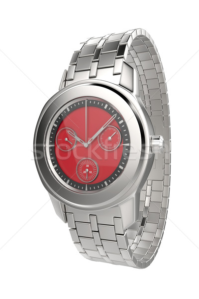 Silver wristwatch Stock photo © magraphics