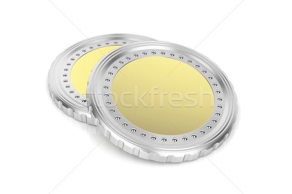 два монетами белый деньги Финансы золото Сток-фото © magraphics