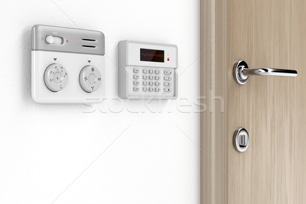 Thermostat and alarm controls Stock photo © magraphics