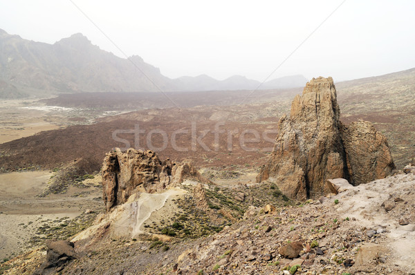 Rock formations at Teide National Park Stock photo © magraphics