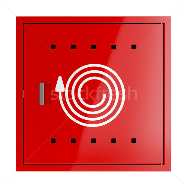 Fire hose cabinet Stock photo © magraphics