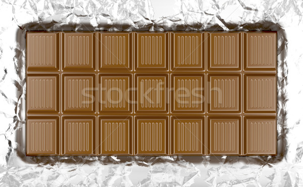 Aluminium lait alimentaire bar Photo stock © magraphics