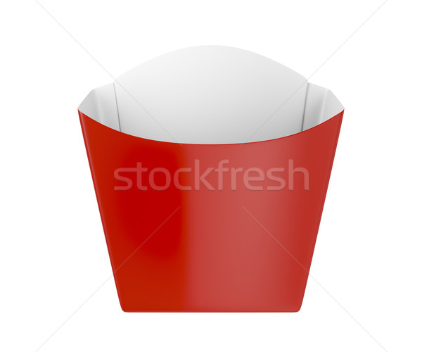 Red box for french fries Stock photo © magraphics