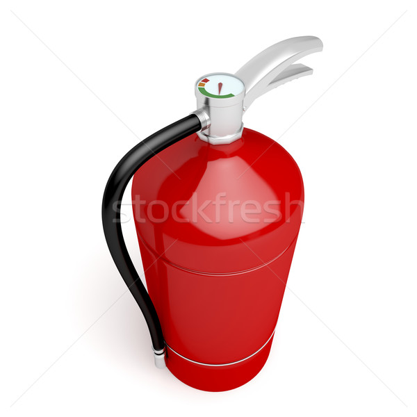 Fire extinguisher on white Stock photo © magraphics