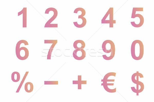 Numbers and symbols Stock photo © magraphics