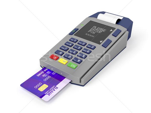Hitelkártya olvasó kártya fehér üzlet bolt Stock fotó © magraphics