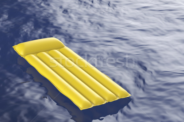 Pool raft floating on water Stock photo © magraphics
